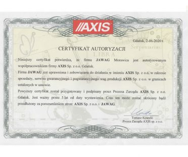 Certyfikat Axis
