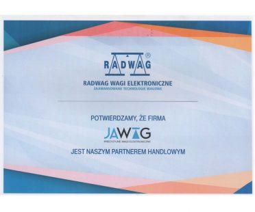 Certyfikat Radwag