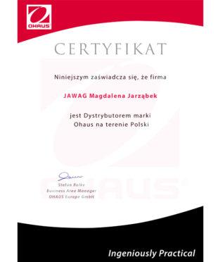 certyfikat-ohaus