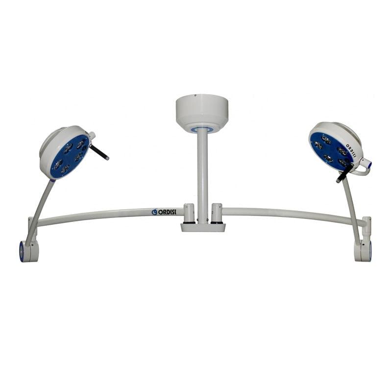 Lampa bezcieniowa LED L21-25TD zabiegowo-diagnostyczna dwuczaszowa sufitowa i opcja bezdotykowego wł./wył. oraz regulacji natężenia oświetlenia